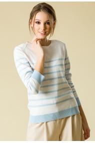 Bluza Sense tricotata Reese alb+bleu