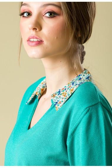 Bluza Sense tricotata Flower verde