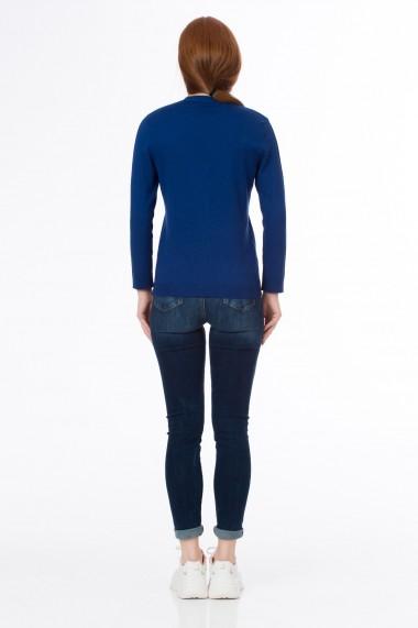 Jacheta Sense tricotata Folie albastru