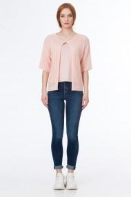 Jacheta Sense tricotata Shine roz