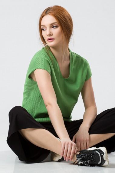 Bluza Sense tricotata Daisy verde