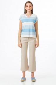 Bluza Sense tricotata Haris alb+bleu