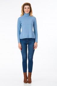 Pulover Sense lana si casmir Linette bleu deschis