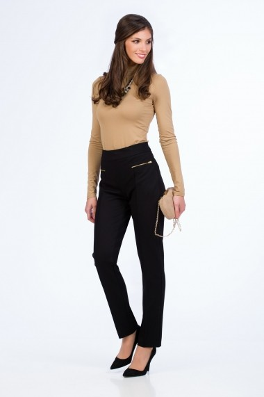 Pantaloni drepti Sense Dalida negru