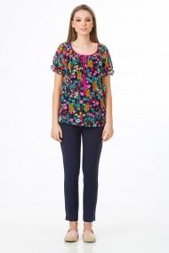 Bluza Sense imprimata Nicolle multicolor