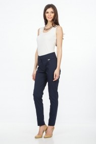 Pantaloni drepti Sense Bernadette Bleumarin