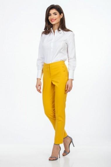 Pantaloni drepti Sense Corinne galben