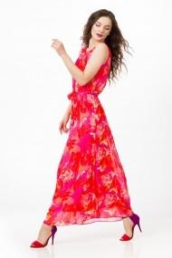Rochie lunga Sense imprimata Vivian corai