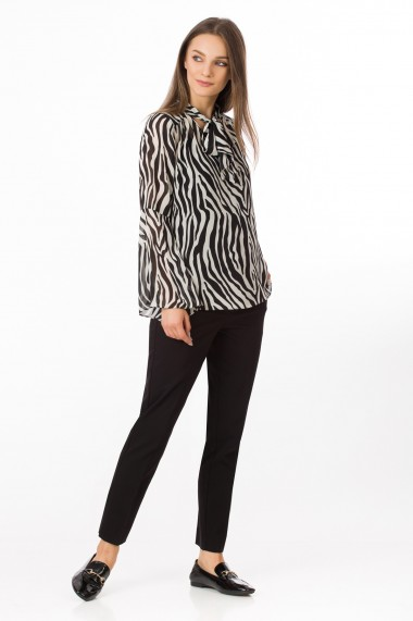 Bluza Sense imprimata Alecia negru+gri