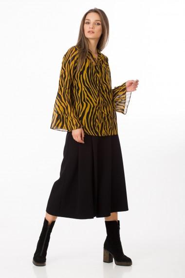 Bluza Sense imprimata Alecia negru+galben