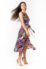 Rochie midi Sense imprimata Soraya multicolor