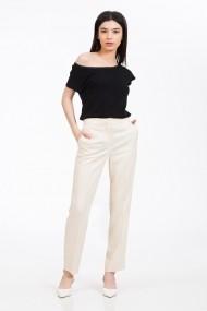 Pantaloni drepti Sense vascoza Klara ivoire