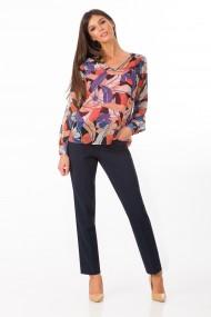 Bluza Sense imprimata Fleur negru+orange