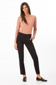 Pantaloni drepti Sense office Rebeca negru