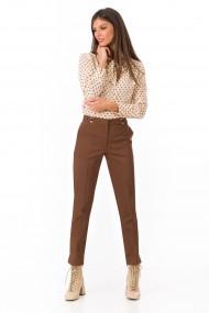 Pantaloni drepti Sense office Maggie maro