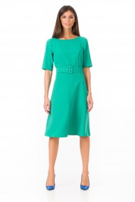 Rochie midi Sense office Betty verde