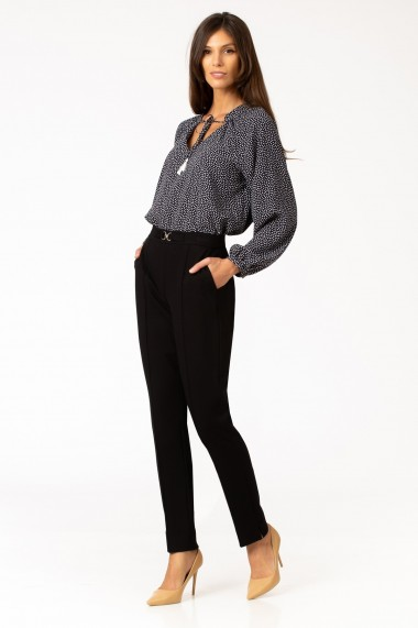 Pantaloni drepti Sense ponte Energy negru