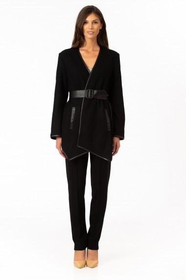 Jacheta Sense stofa de lana Catherine negru