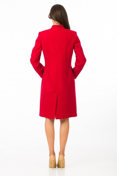 Palton Sense stofa cu lana Mignon rosu