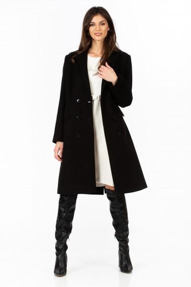 Pardesiu Sense stofa cu lana Isabella negru