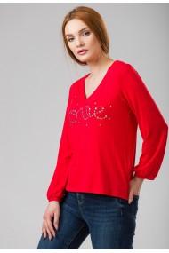 Bluza Sense jersey Love rosu