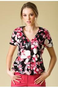 Bluza Sense imprimata Natalie negru+roz