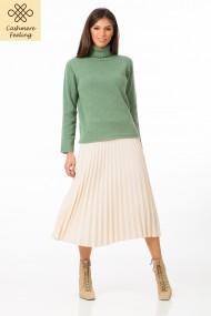 Pulover Sense din lana cu casmir Silvana verde