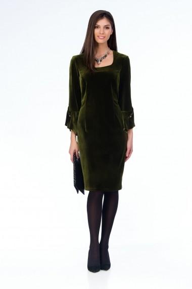 Rochie de seara Sense catifea Veronique verde