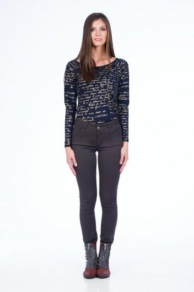 Pantaloni skinny Sense Brienne FSE-XC138--1 maro