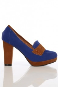 Pantofi cu toc 10353-32248 albastru
