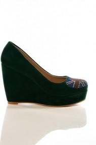 eOutlet Magassarkú cipő FVP-11575-36615 Zöld