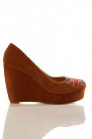 Pantofi cu toc 11575-36617 Maro