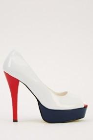 Pantofi cu toc 14676-47168 alb