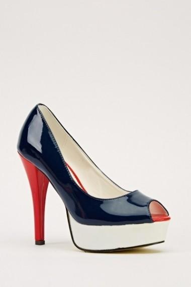 Pantofi cu toc 14676-47169 Rosu