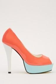 Pantofi cu toc 14676-47170 portocaliu
