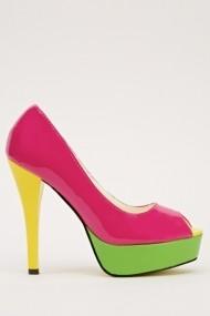 Pantofi cu toc 14676-47171 Fucsia