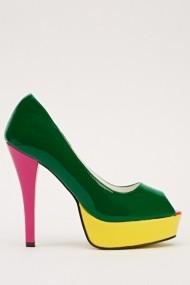 Pantofi cu toc 14676-47173 verde