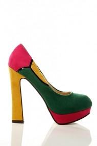 Pantofi cu toc 15024-48236 Verde