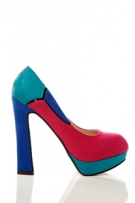 Pantofi cu toc 15024-48239 Fucsia