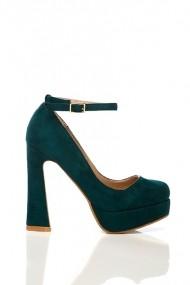 Pantofi cu toc 15709-50181 verde