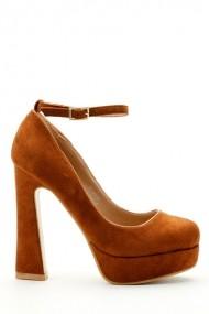 Pantofi cu toc 15709-85487 maro