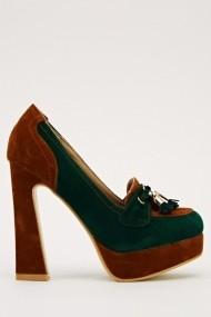 Pantofi cu toc 15955-50803 verde