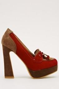 Pantofi cu toc 15955-50807 rosu