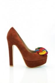 Pantofi cu toc 16222-51395 maro