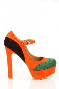 Pantofi cu toc 16825-52914 Verde