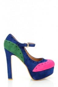 Pantofi cu toc 16825-52915 Fucsia