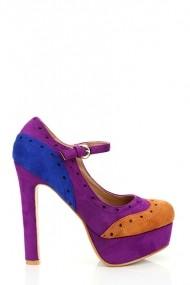 Pantofi cu toc 16825-52916 Maro