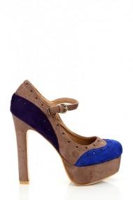 Pantofi cu toc 16825-52917 Albastru