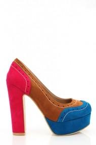 Pantofi cu toc 16957-53224 bleumarin