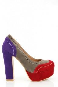 Pantofi cu toc 16957-53225 maro